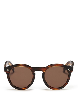 Main View - Click To Enlarge - ILLESTEVA - 'Leonard II' tortoiseshell acetate sunglasses