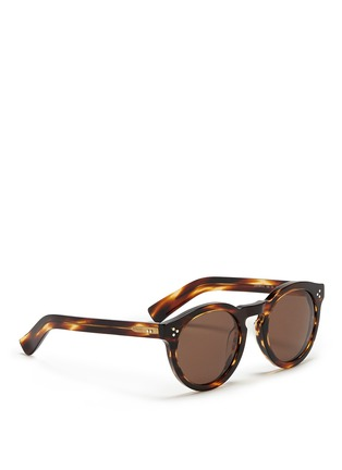 Figure View - Click To Enlarge - ILLESTEVA - 'Leonard II' tortoiseshell acetate sunglasses