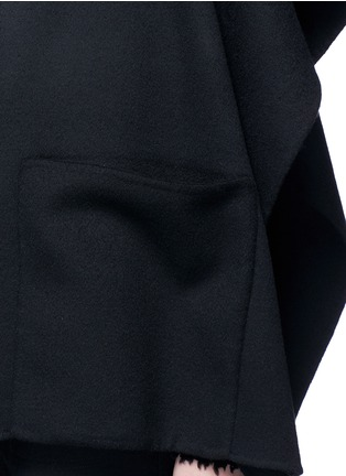 Detail View - Click To Enlarge - Ms MIN - Stand collar felted wool-cashmere cape