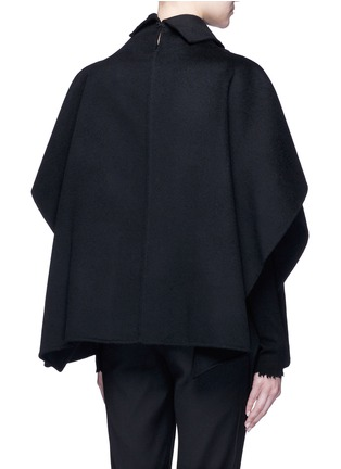 Back View - Click To Enlarge - Ms MIN - Stand collar felted wool-cashmere cape