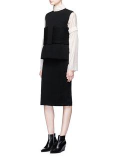 Ms MINBeaded ribbon trim silk blouse