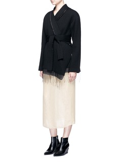Ms MINSilk gauze layered maxi dress