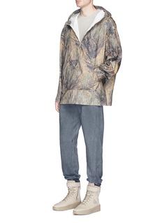 YeezyTree print oversized ripstop hoodie