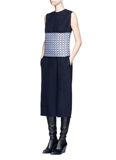 Ms MINArabesque jacquard obi belt dress