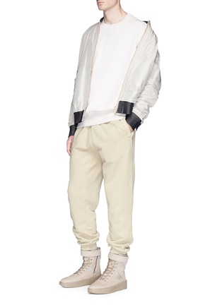 Figure View - Click To Enlarge - Yeezy - Relaxed fit French terry sweatpants