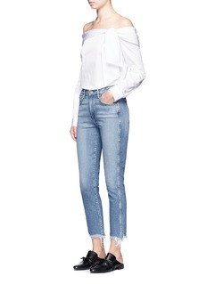 3x1 W3' slim fit frayed cuff cropped jeans