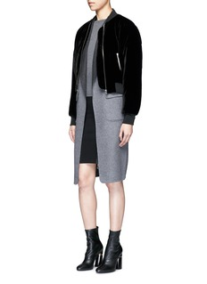 Alexander Wang  Reversible wool blend melton coat