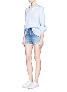 Alexander Wang  Pierced collar cotton poplin shirt