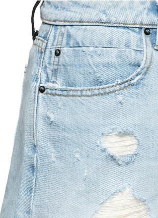 Detail View - Click To Enlarge - Alexander Wang  - 'Bite' distressed cut-off denim shorts