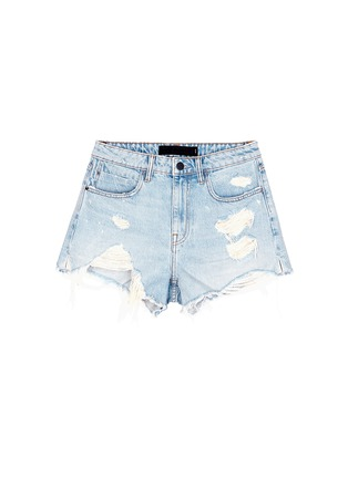Main View - Click To Enlarge - Alexander Wang  - 'Bite' distressed cut-off denim shorts