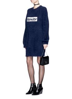 Alexander Wang 'Tender' slogan embroidered sweater dress