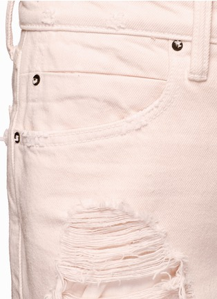 Detail View - Click To Enlarge - Alexander Wang  - 'Rival' distressed cropped jeans