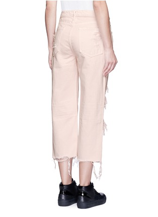 Back View - Click To Enlarge - Alexander Wang  - 'Rival' distressed cropped jeans
