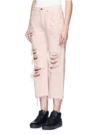 Front View - Click To Enlarge - Alexander Wang  - 'Rival' distressed cropped jeans