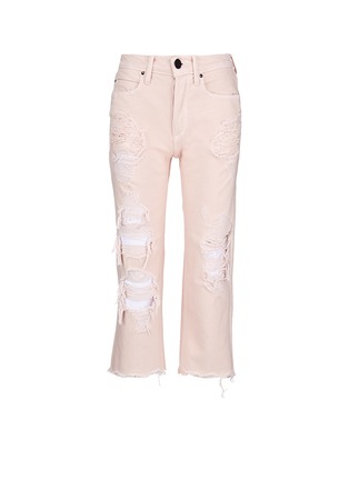 Main View - Click To Enlarge - Alexander Wang  - 'Rival' distressed cropped jeans