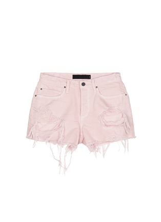 Main View - Click To Enlarge - Alexander Wang  - 'Romp' oversized distressed denim shorts