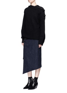 Acne Studios 'Holden' split shoulder chunky knit sweater
