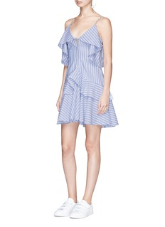 Nicholas 'Astrid' ruffle stripe cotton dress