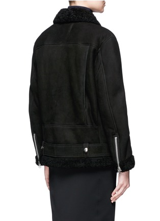Back View - Click To Enlarge - Acne Studios - More She Sue' lambskin shearling motorcycle jacket