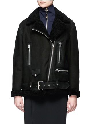 Main View - Click To Enlarge - Acne Studios - More She Sue' lambskin shearling motorcycle jacket