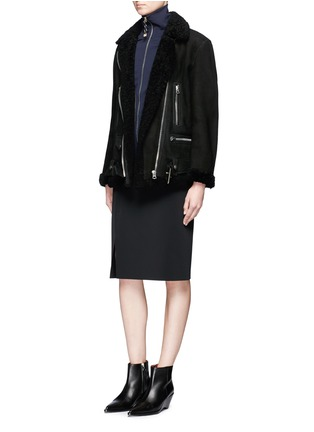 Figure View - Click To Enlarge - Acne Studios - More She Sue' lambskin shearling motorcycle jacket
