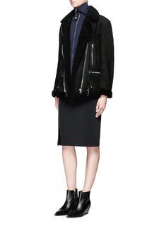 Acne StudiosMore She Sue' lambskin shearling motorcycle jacket