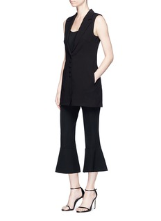 Nicholas High waist cropped flared crepe pants