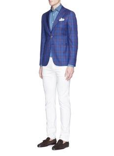 ISAIA'Como' cotton chambray shirt