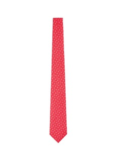 ISAIA Coral and starfish print seven fold silk tie
