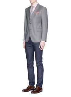 ISAIA'Milano' gingham check poplin shirt