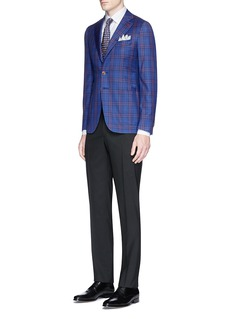 ISAIA Notched waist wool pants