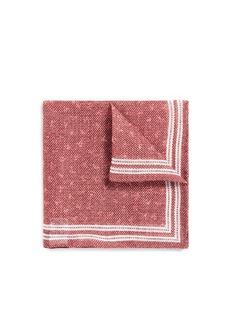 ISAIACoral check print pocket square