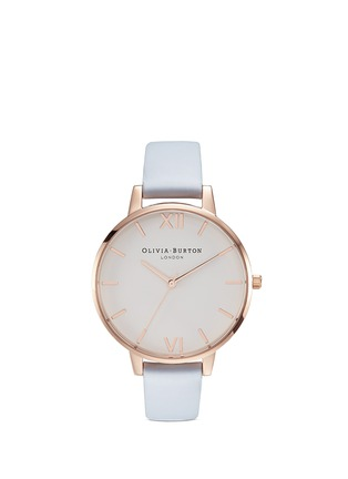 Main View - Click To Enlarge - Olivia Burton  - 'Big Dial' leather strap 38mm watch