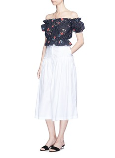 Nicholas 'Primrose May' broderie anglaise cropped off-shoulder top