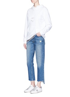 GRLFRND 'Helena' staggered cuff cropped jeans