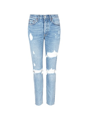 Main View - Click To Enlarge - GRLFRND - 'Karolina' cropped ripped jeans