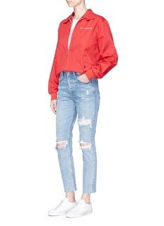 GRLFRND'Karolina' cropped ripped jeans