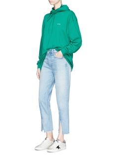 GRLFRND'Cheryl' frayed split cuff jeans