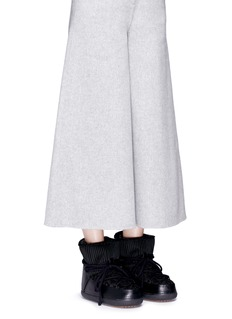 INUIKII 'Fashion' mixed knit sheepskin shearling boots