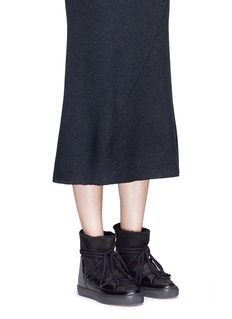 INUIKII'Classic' shearling wedge sneaker boots