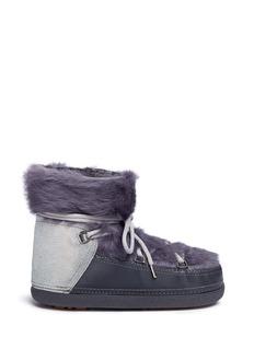 INUIKIIRabbit fur overlay sheepskin shearling boots