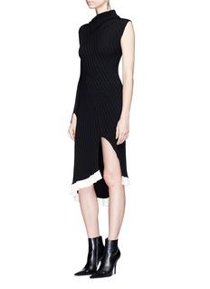 Esteban CortazarAsymmetric ruffle hem one-sleeve dress