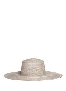 ClydeFlat top wide brim straw hat