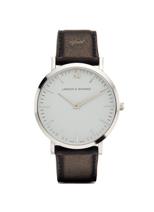 Main View - Click To Enlarge - Larsson & Jennings - 'Lugano 40mm' leather strap watch