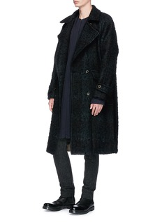 Uma Wang  'Ezra' brushed oversized twill coat