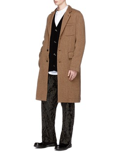Uma Wang  'Giovanni' brushed virgin wool coat