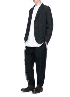 Uma Wang 'Rafichi' pinstripe slub hopsack soft blazer