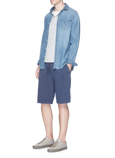 James PerseGarment dyed French terry sweat shorts