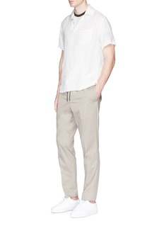 James Perse Slub cotton-linen ringer T-shirt