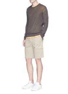 James PerseCotton poplin cargo shorts